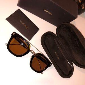 Tom Ford Women's Alex Brow Bar Square Sunglasses